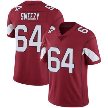 Youth Nike Arizona Cardinals J.R. Sweezy Cardinal 100th Vapor Jersey - Limited