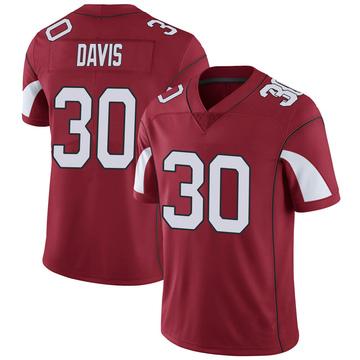 Youth Nike Arizona Cardinals Jalen Davis Cardinal Team Color Vapor Untouchable Jersey - Limited