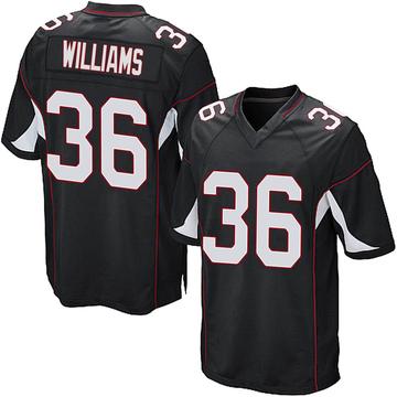 Youth Nike Arizona Cardinals Jarren Williams Black Alternate Jersey - Game