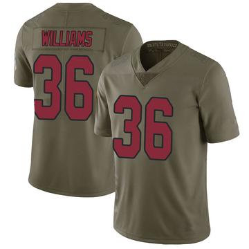 Youth Nike Arizona Cardinals Jarren Williams Green 2017 Salute to Service Jersey - Limited