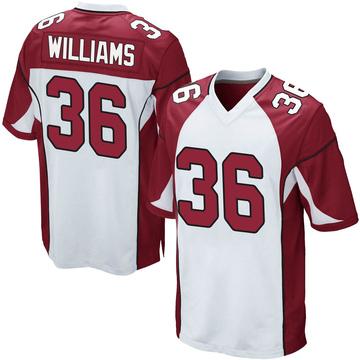 Youth Nike Arizona Cardinals Jarren Williams White Jersey - Game