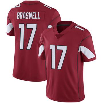 Youth Nike Arizona Cardinals Jermiah Braswell Cardinal 100th Vapor Jersey - Limited