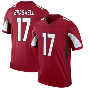 Youth Nike Arizona Cardinals Jermiah Braswell Cardinal Jersey - Legend