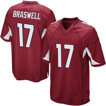 Youth Nike Arizona Cardinals Jermiah Braswell Cardinal Team Color Jersey - Game