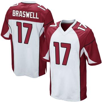 Youth Nike Arizona Cardinals Jermiah Braswell White Jersey - Game