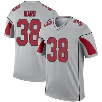 Youth Nike Arizona Cardinals Jonathan Ward Inverted Silver Jersey - Legend