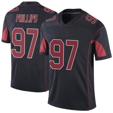 Youth Nike Arizona Cardinals Jordan Phillips Black Color Rush Vapor Untouchable Jersey - Limited