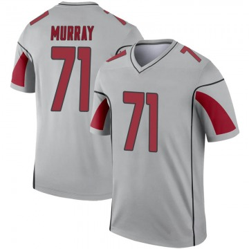 Youth Nike Arizona Cardinals Justin Murray Inverted Silver Jersey - Legend