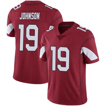 Youth Nike Arizona Cardinals KeeSean Johnson Cardinal 100th Vapor Jersey - Limited