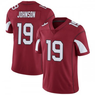 Youth Nike Arizona Cardinals KeeSean Johnson Cardinal Team Color Vapor Untouchable Jersey - Limited