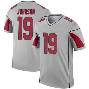 Youth Nike Arizona Cardinals KeeSean Johnson Inverted Silver Jersey - Legend