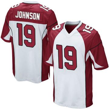 Youth Nike Arizona Cardinals KeeSean Johnson White Jersey - Game