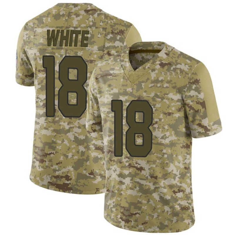 wholesale dealer a36cd 623ea Youth Nike Arizona Cardinals Kevin White White Camo 2018 Salute to Service  Jersey - Limited