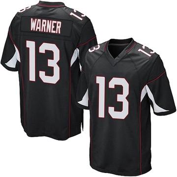 Youth Nike Arizona Cardinals Kurt Warner Black Alternate Jersey - Game