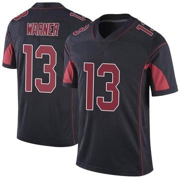 Youth Nike Arizona Cardinals Kurt Warner Black Color Rush Vapor Untouchable Jersey - Limited