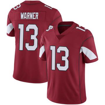 Youth Nike Arizona Cardinals Kurt Warner Cardinal 100th Vapor Jersey - Limited