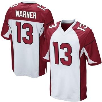 Youth Nike Arizona Cardinals Kurt Warner White Jersey - Game