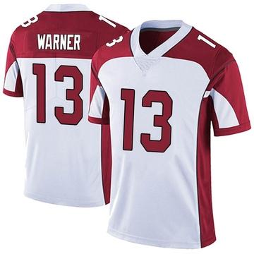 Youth Nike Arizona Cardinals Kurt Warner White Vapor Untouchable Jersey - Limited