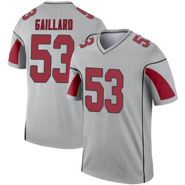 Youth Nike Arizona Cardinals Lamont Gaillard Inverted Silver Jersey - Legend