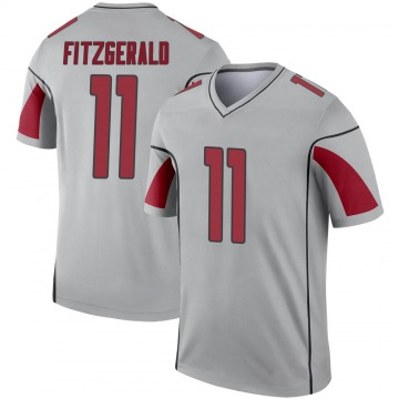 Youth Nike Arizona Cardinals Larry Fitzgerald Inverted Silver Jersey - Legend