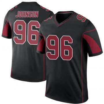 Youth Nike Arizona Cardinals Lyndon Johnson Black Color Rush Jersey - Legend