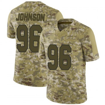 Youth Nike Arizona Cardinals Lyndon Johnson Camo 2018 Salute to Service Jersey - Limited