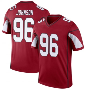Youth Nike Arizona Cardinals Lyndon Johnson Cardinal Jersey - Legend