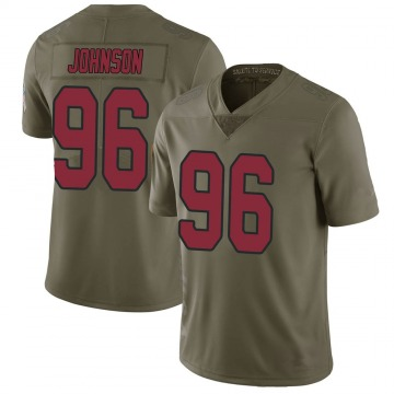 Youth Nike Arizona Cardinals Lyndon Johnson Green 2017 Salute to Service Jersey - Limited