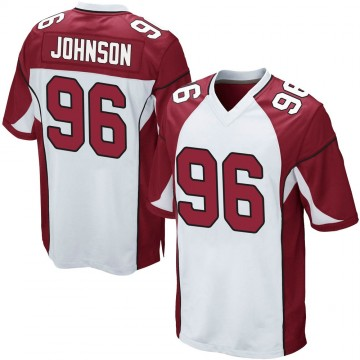 Youth Nike Arizona Cardinals Lyndon Johnson White Jersey - Game