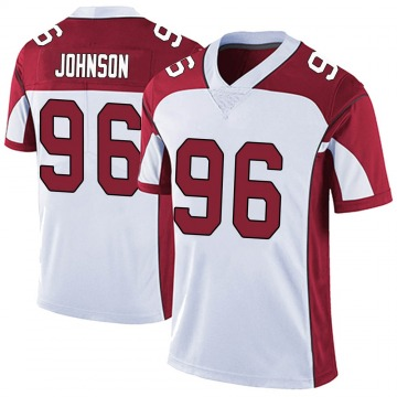 Youth Nike Arizona Cardinals Lyndon Johnson White Vapor Untouchable Jersey - Limited
