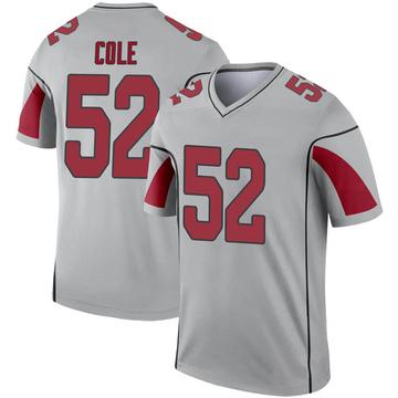 Youth Nike Arizona Cardinals Mason Cole Inverted Silver Jersey - Legend
