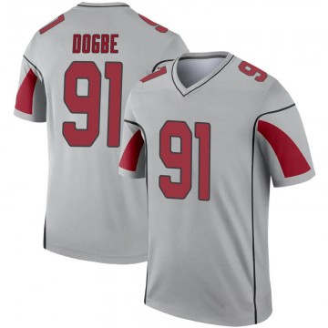 Youth Nike Arizona Cardinals Michael Dogbe Inverted Silver Jersey - Legend