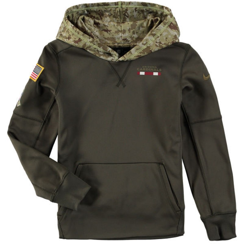 info for 51aaf f930a Youth Nike Arizona Cardinals Olive Salute to Service Pullover Hoodie -