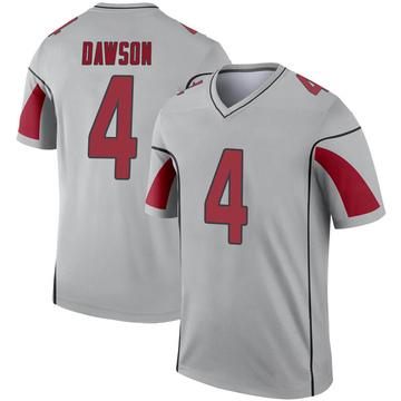 Youth Nike Arizona Cardinals Phil Dawson Inverted Silver Jersey - Legend