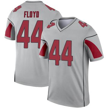Youth Nike Arizona Cardinals Reggie Floyd Inverted Silver Jersey - Legend