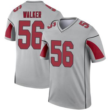 Youth Nike Arizona Cardinals Reggie Walker Inverted Silver Jersey - Legend