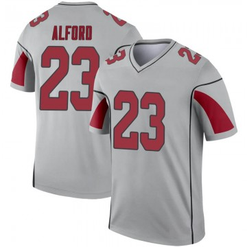 Youth Nike Arizona Cardinals Robert Alford Inverted Silver Jersey - Legend