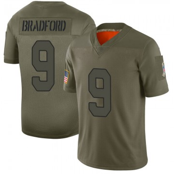 Youth Nike Arizona Cardinals Sam Bradford Camo 2019 Salute to Service Jersey - Limited