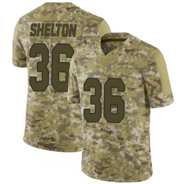 Youth Nike Arizona Cardinals Sojourn Shelton Camo 2018 Salute to Service Jersey - Limited