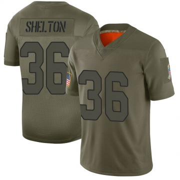 Youth Nike Arizona Cardinals Sojourn Shelton Camo 2019 Salute to Service Jersey - Limited