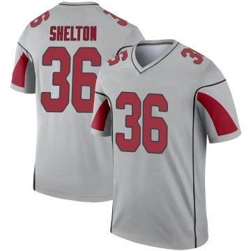 Youth Nike Arizona Cardinals Sojourn Shelton Inverted Silver Jersey - Legend