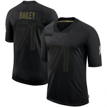 Youth Nike Arizona Cardinals Sterling Bailey Black 2020 Salute To Service Jersey - Limited