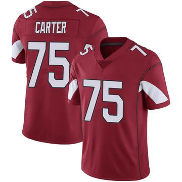 Youth Nike Arizona Cardinals T.J. Carter Cardinal 100th Vapor Jersey - Limited