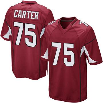 Youth Nike Arizona Cardinals T.J. Carter Cardinal Team Color Jersey - Game