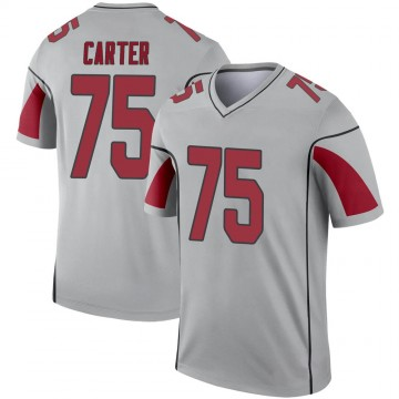 Youth Nike Arizona Cardinals T.J. Carter Inverted Silver Jersey - Legend