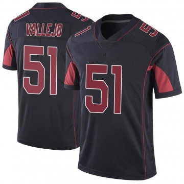 Youth Nike Arizona Cardinals Tanner Vallejo Black Color Rush Vapor Untouchable Jersey - Limited