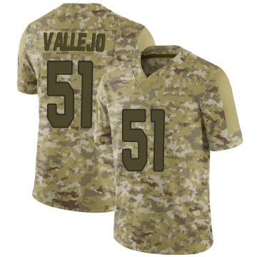 Youth Nike Arizona Cardinals Tanner Vallejo Camo 2018 Salute to Service Jersey - Limited