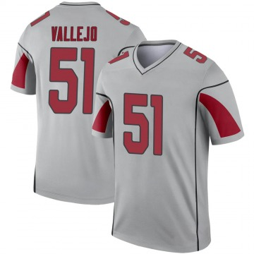 Youth Nike Arizona Cardinals Tanner Vallejo Inverted Silver Jersey - Legend