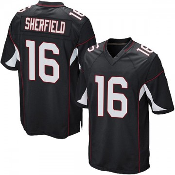 Youth Nike Arizona Cardinals Trent Sherfield Black Alternate Jersey - Game