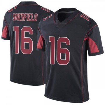Youth Nike Arizona Cardinals Trent Sherfield Black Color Rush Vapor Untouchable Jersey - Limited